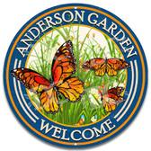 Butterfly Garden Sign Blue