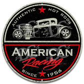 American Racing Hot Rod Sign - Red