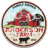 Family Farm Welcome Metal Wall Sign