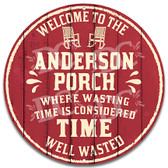 Front Porch Home Welcome Metal Wall Sign