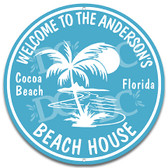 Beach House Welcome Metal Wall Sign
