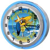 "Margaritaville Bar 18"" Double Neon Clock"
