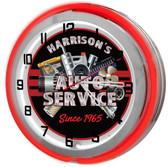 "Car Repair Shop 18"" Double Neon Clock"