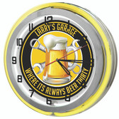"Beer thirty Yellow 18"" Double Neon Clock"