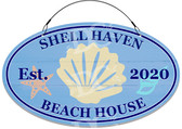 Ocean Shells Decorative Home Welcome Sign