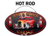 Hot Rod Garage Welcome Sign - Hot Rod