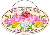 Floral Garden Decorative Home Welcome Sign
