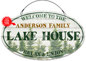 Forest Cabin Decorative Welcome Sign