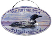 Loon Bird Decorative Welcome Sign