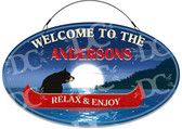 Bear Themed Cottage Decorative Welcome Sign