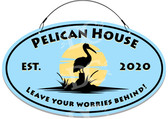 Pelican Cottage Decorative Home Welcome Sign