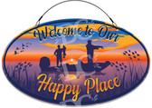 Happy Place Decorative Home Welcome Sign