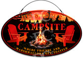 Campsite Camper Welcome Sign - Customized