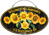 Sunflowers In Bloom Custom Address Welcome Sign