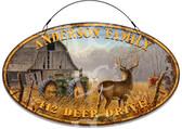 Deer Hunting Whitetail Deer Buck Welcome Sign