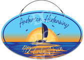 Sailboat Address Welcome Sign