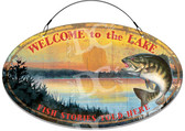 Bass Fishing Cottage Welcome Sign