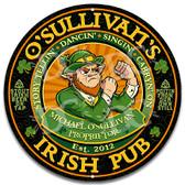 Irish Pub Leprechaun Welcome Metal Wall Sign