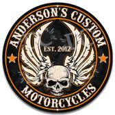 Motorcycle Garage Metal Wall Sign