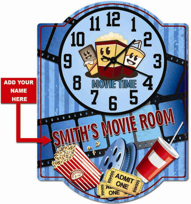 Home Movie Theater Decorative Clock