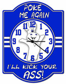 Poke Me Again Hardboard Wall Clock