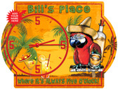 Personalized Tequila Parrot Wall Clock Sign