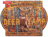 Personalized Fall Deer Camp Sign