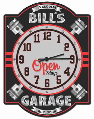 Personalized Garage Piston Wall Clock