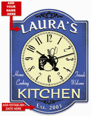 Blue Kitchen Wall Clock