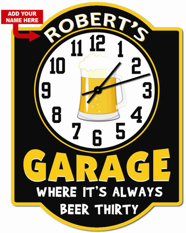 Beer Thirty Personalized Wall Clock