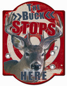 Buck Stops Here Hunter Wall Sign