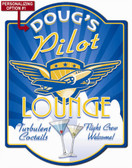 Pilots Lounge Wall Sign