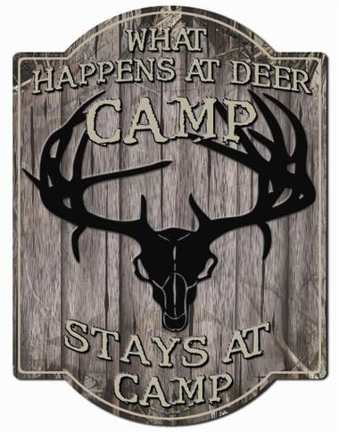 Deer Camp Wall Sign