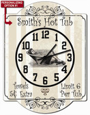 Personalized Hot Tub Wall Clock