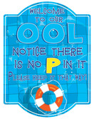 Novelty Pool Rules Sign
