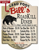 Personalized Roadkill Diner Sign