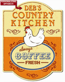 Personalized Country Kitchen Wall Sign