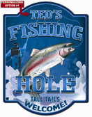 Personalized Fishing Wall Sign