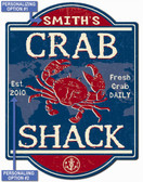 Crab Shack Personalized Wall Sign