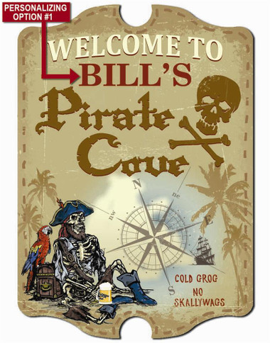 Pirates Cove Wall Sign