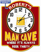 Red Man Cave Wall Clock