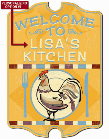 Personalized Kitchen Wall Sign