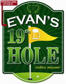 19th Hole Golf Sign