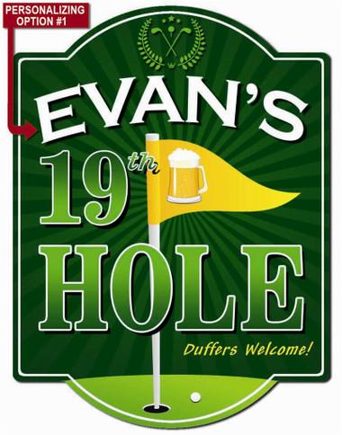 19th Hole Golf Sign