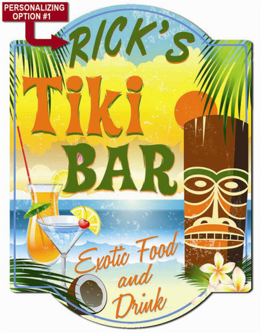Personalized Tiki Bar Sign