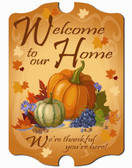 Autum Welcome Wall Sign