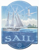 Live to sail wall sign