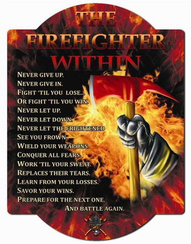 Firefighter Within Wall Sign