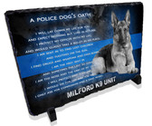 Police Dog Oath Stone Plaque
