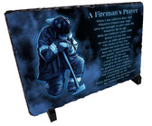Decorative Firefighter Prayer Stone Plaque